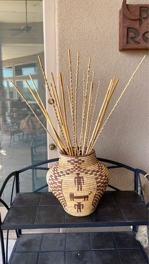 Santa Fe Woven basket purchased at the Indian market in Phoenix must pick up for Sale in Scottsdale, AZ