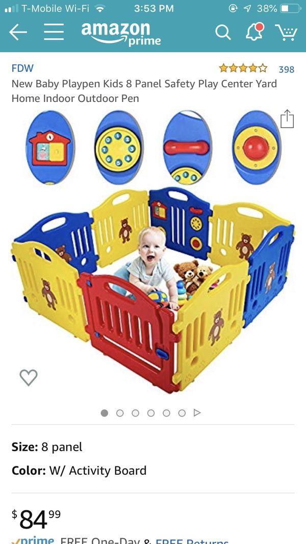 Baby playpen 8 panels