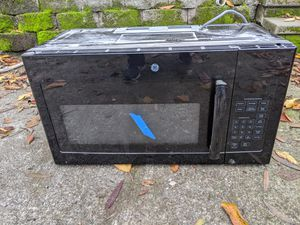 Black over range microwave with fan for Sale in Seattle, WA