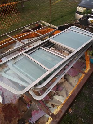 Camper windows 4big 1 small $100 or bo for Sale in Penns Grove, NJ