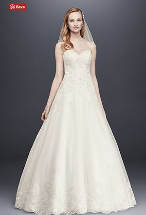 David's Bridal Ivory Ball Gown Wedding Dress for Sale in Bellevue, WA