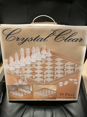 Chess and Checkers - Two-games boxed set - Complete 59 pieces - Like NEW, original packaging for Sale in Los Angeles, CA