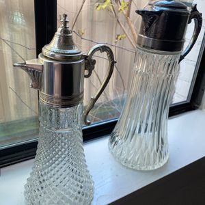 1930s Italian Crystal Claret or Tea Caraf With Ice Insert for Sale in Houston, TX