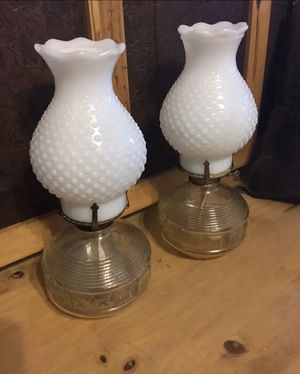 Vintage 60s milk glass kaadan lamp set for Sale in Henderson, NV