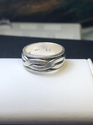 Men's Spinner ring size 10 925 sterling silver for Sale in Manassas, VA