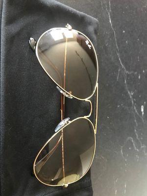 Silver-colored framed ray-ban aviator sunglasses for Sale in Boston, MA