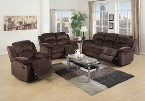 In stock and ready for delivery! Chocolate Padded Suede Reclining Motion Sofa Set $285.00 – $1,355.00 for Sale in Seattle, WA