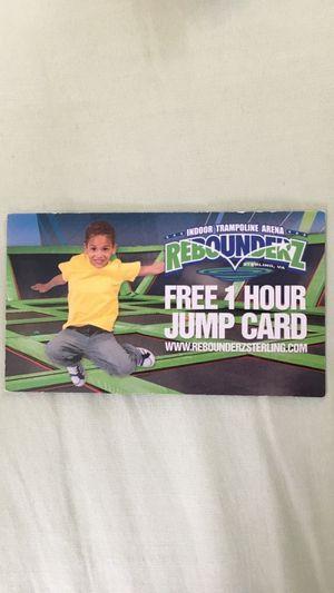 Rebounderz Sterling 1HR jump pass for Sale in Manassas, VA
