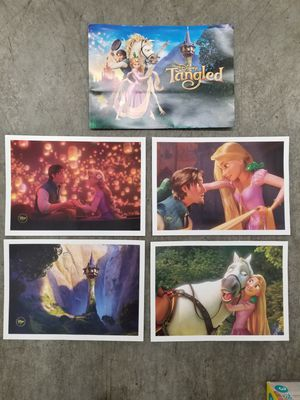 Tangled set of 4 collectible lithographs from the Disney store for Sale in Renton, WA