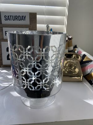 Large Silver Glass Candle 🕯Holder Decor 3x4H candelas for Sale in Palmdale, CA