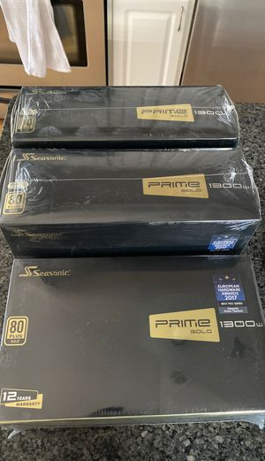 Seasonic Prime Gold 1300w power supply for Sale in Duluth, MN