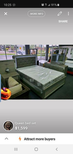 Ashley bedroom set complete with mattress included for Sale in Tampa, FL