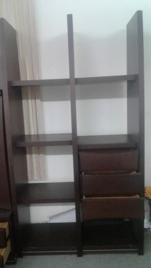Wood Cabinet With Glass Door And Cabinet With Bookshelves Cabinet for Sale in Chicago, IL
