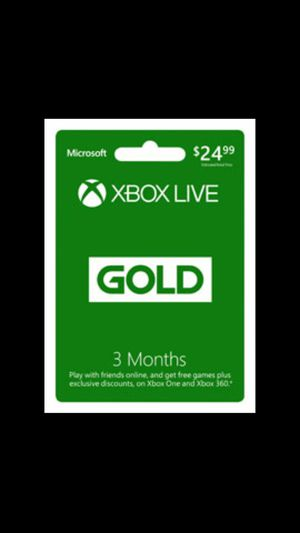 Xbox live 3 month subscription for Sale in Denver, CO