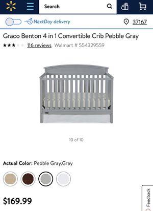 Baby Gray crib. Semi new. for Sale in Murfreesboro, TN