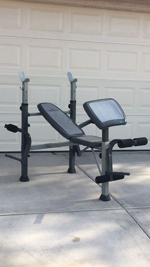 Pec Fly Weight Bench with Arm Curl Preacher Pad for Sale in Las Vegas, NV