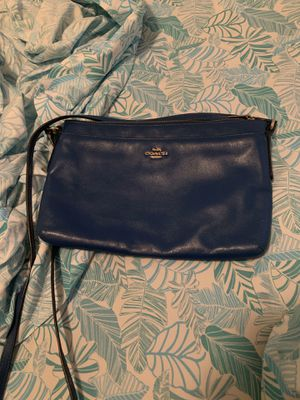 Coach blue crossbody bag for Sale in Groveport, OH