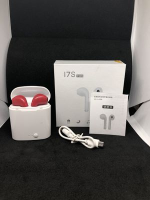 Red i7 Tws Bluetooth wireless headphones earbuds audiculares for Sale in Denver, CO