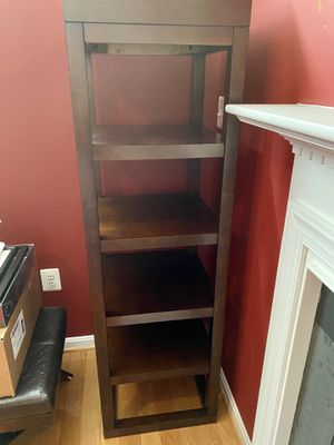 Crate and Barrel Solid Mahogany Wood Bookcase for Sale in Lorton, VA