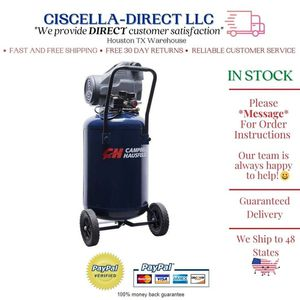 Air Compressor 20 Gallon 1.3 HP Oil-Free with Wheels Rolling for Sale in Houston, TX