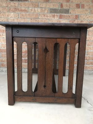 Antique Mission Arts and Crafts Oak Accent Table / Nightstand / Console for Sale in Goodyear, AZ