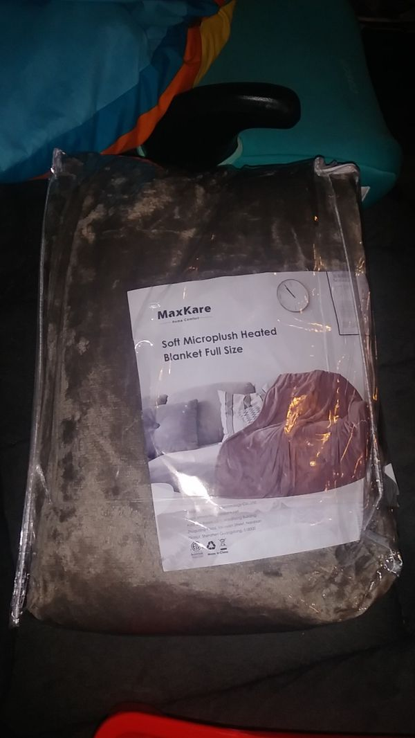 Maxkare electric blanket heated throw- full size