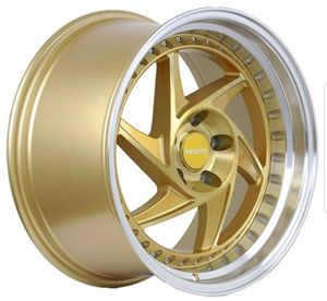 "18"" inch Regen5 R34 brushed gold wheel rim & tire packages available! No credit financing! for Sale in Chandler, AZ"