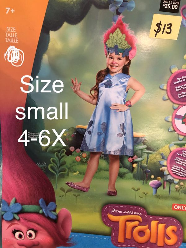 NEW Poppy Trolls Halloween Costume size small 4-6x