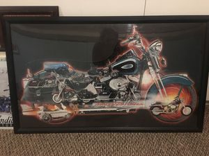 Harley Davidson motorcycle framed wall art for Sale in Arvada, CO
