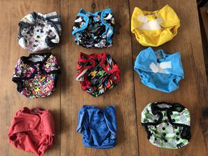 9 RumpaRooz Diaper Covers- Newborn size for Sale in Los Angeles, CA