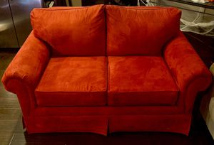 Red loveseat couch (two seats) for Sale in San Jose, CA