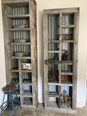Super unique antique vintage Barnwood bookshelves massive for Sale in Poway, CA