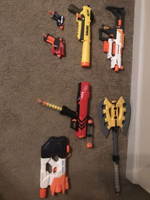 NERF GUN LOT, EXCELLENT CONDITION for Sale in College Grove, TN