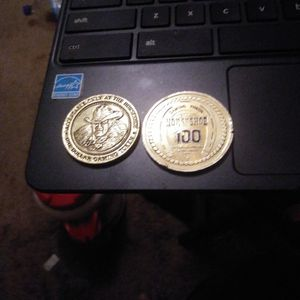 Collectable Binion Horseshoe Gaming Chips $1.00 And $100.00 Denomination for Sale in Las Vegas, NV