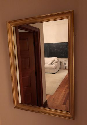 Beautiful antique large mirror with gold frame for Sale in Seattle, WA