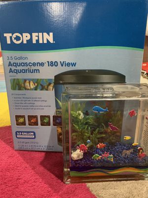 Top Fin 3.5 gal Fish Tank (bonus tank and decor) for Sale in Bridgewater Township, NJ