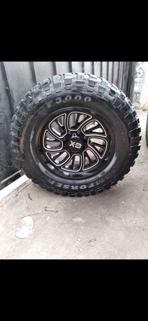 20 inch wheels. 20 x12s 37 x13.50x20s tires. Fits Ford. 8 lug. 1200 obo. Tires are about 60%. for Sale in Redondo Beach, CA