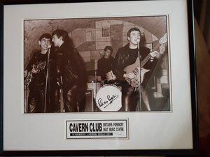 The Beatles Pete Best Original Drummer Signed Photo Framed for Sale in Sebring, FL