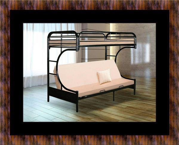 Twin futon bunk bed frame