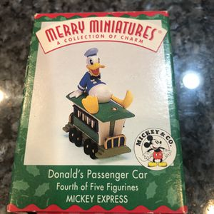 Collectible 1988 Donald Duck Passenger Car Merry Miniatures by Hallmark. Brand new for Sale in Cerritos, CA