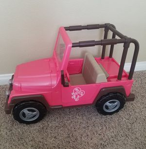 Our Generation Large Doll Jeep Car American Girl for Sale in Las Vegas, NV