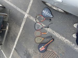 4 tennis rackets , 2cases , set of tennis balls for Sale in Kent, WA
