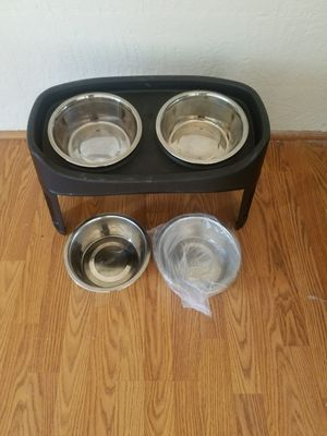 IRIS Pet Elevated Feeder with Stainless Steel Bowls for Sale in Accokeek, MD