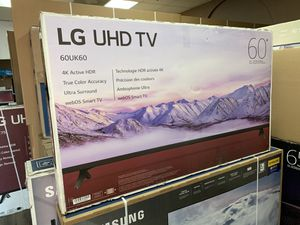 FRESH IN! LG 60 INCH 4K UHD SMART TV WITH WARRANTY! 90 DAY NO CREDIT NEEDED PAYMENT PLAN for Sale in Tempe, AZ