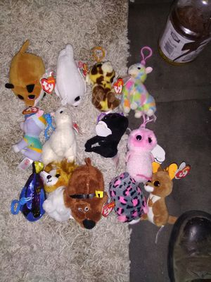 13 brand new, never played with Beanie babies, Beanie Boos & Teeny Tys for Sale in Colorado Springs, CO