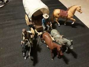 vintage bonanza play figures and horse and wagon. for Sale in Paradise Valley, AZ