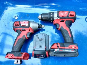 Milwaukee 18volt drill and impact for Sale in Lacey, WA