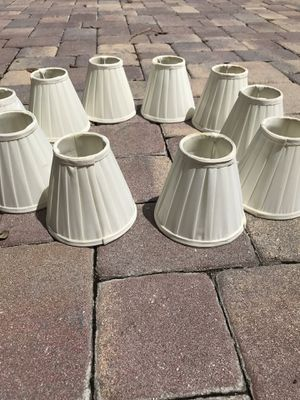 Ten white lamp shades / lamp covers for chandelier or sconces for Sale in Boynton Beach, FL