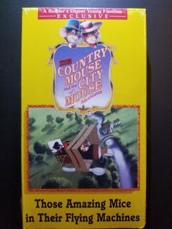 The Country Mouse and the City Mouse Adventures (Those Amazing Mice in their Flying Machine (VHS) 24 minutes for Sale in Cypress Gardens,  FL