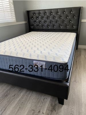 💥Brand New Expresso Queen Button Tufted Beded with Orthopedic Supreme Mattress included 💥 for Sale in Stockton, CA